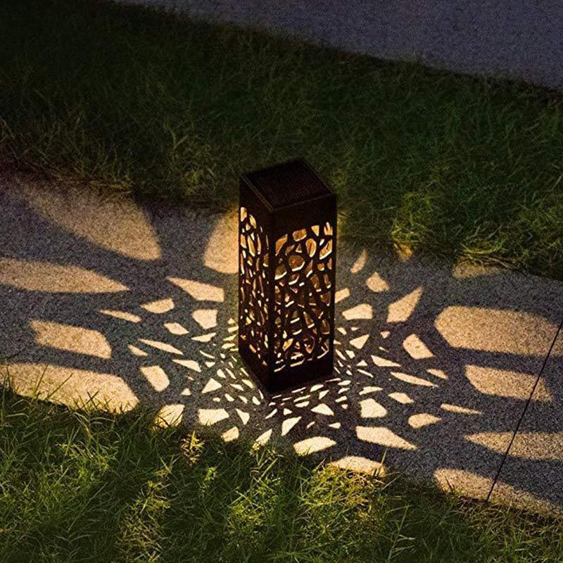 Geometric Design Decorative Path Lights - Garden Lights Direct