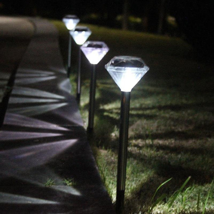 diamond shaped solar path lights for garden