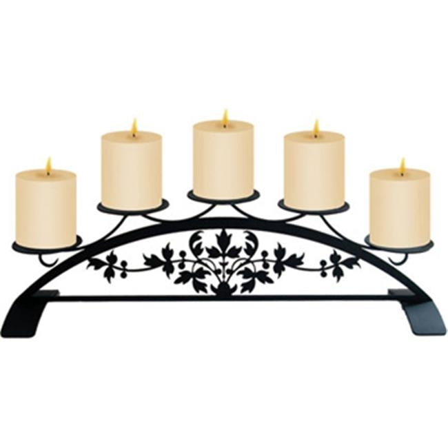 Village Wrought Iron C-PLB-173 Victorian Design - Wrought Iron Pillar Candle Holder