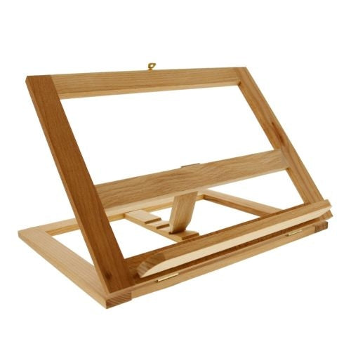 U.S. Art Supply Large Wooden Bookrack Easel and Cookbook Holder