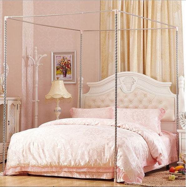 Stainless Steel Mosquito Netting Canopies Bed Frame/Post Twin Full Queen King Size