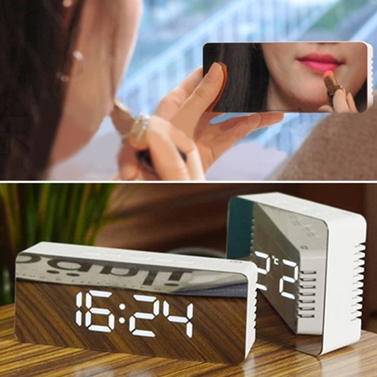LED Alarm Clock Night Lights Thermometer Digital Wall Clock LED Lamp