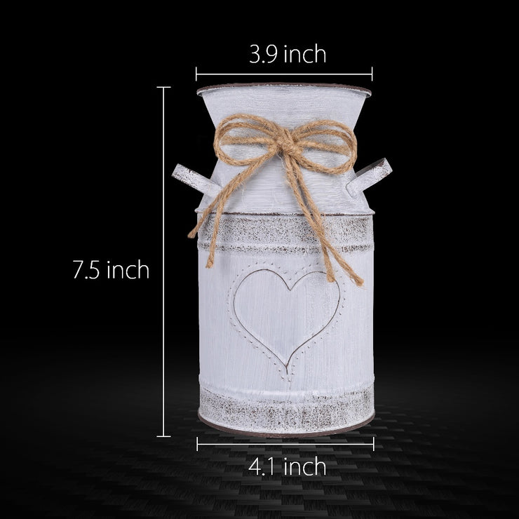 "Tehuen 7.5"" High Decorative Vase with Unique Heart-Shaped and Rope Design"