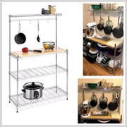 4-Tier Kitchen Bakers Rack Home Dining Microwave Stand Storage