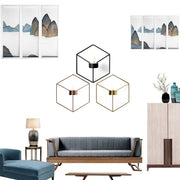 3D Geometric Nordic Candlestick Metal Wall Candle Holder Modern Sconce