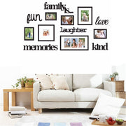 4 Style 3D Family Tree Photo Frame Picture Collage Sticker Wall Mount