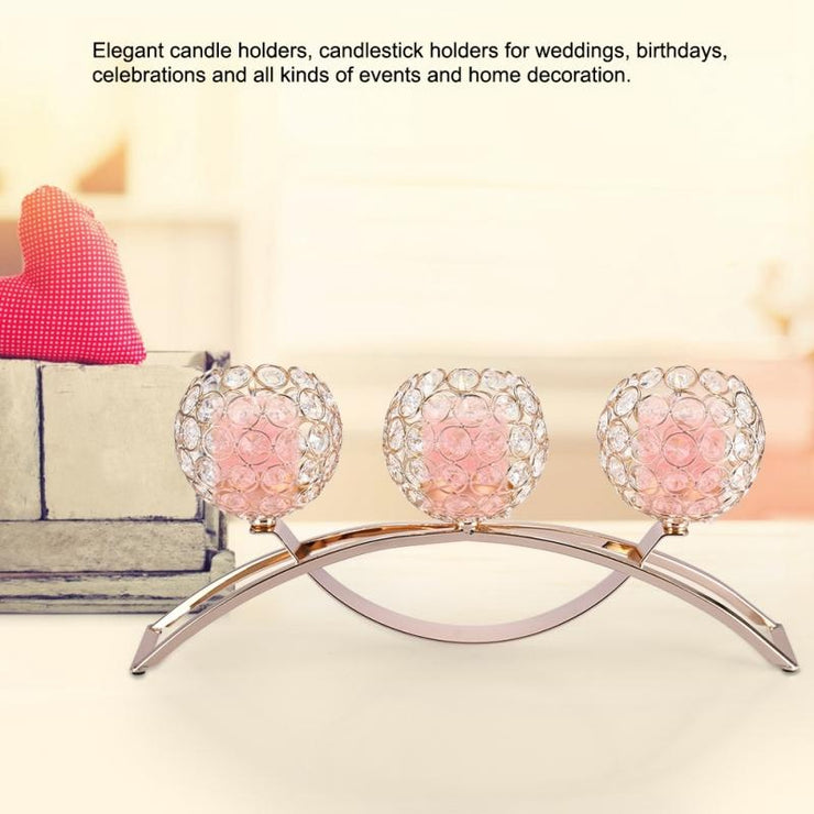 Crystal Candle Holder Arch Romantic Candlelight Dinner Candlestick Wedding
