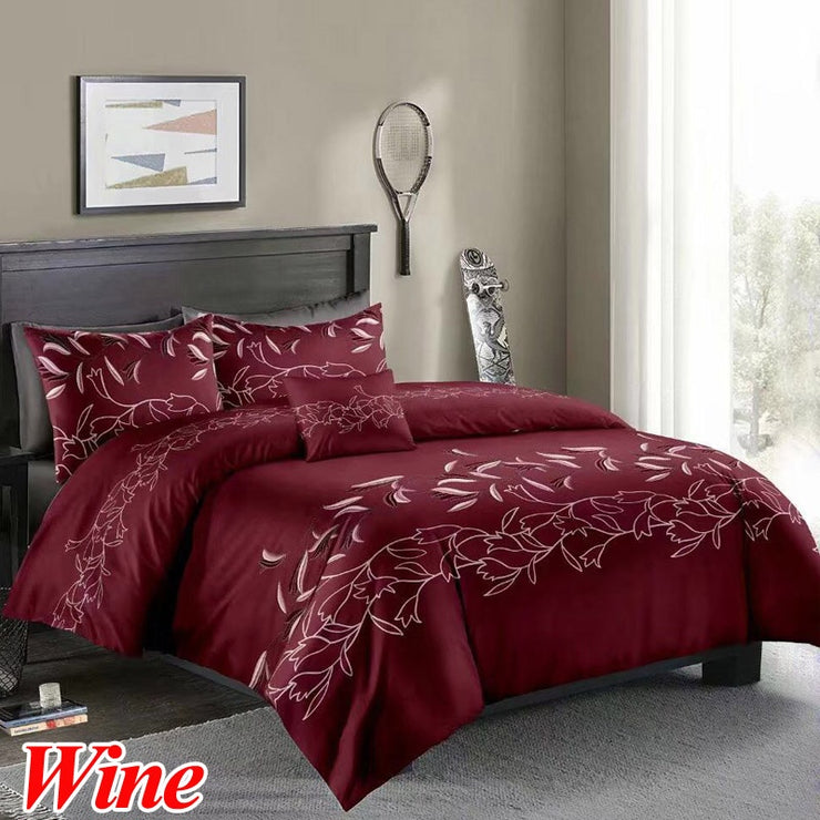 2/3 Pieces/Set Printed Duvet Cover & Pillow Shams Set Single Double Full Queen King