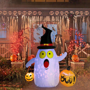 OurWarm Halloween Large Angry Ghost Pumpkin Airblown Inflatable Halloween Decor