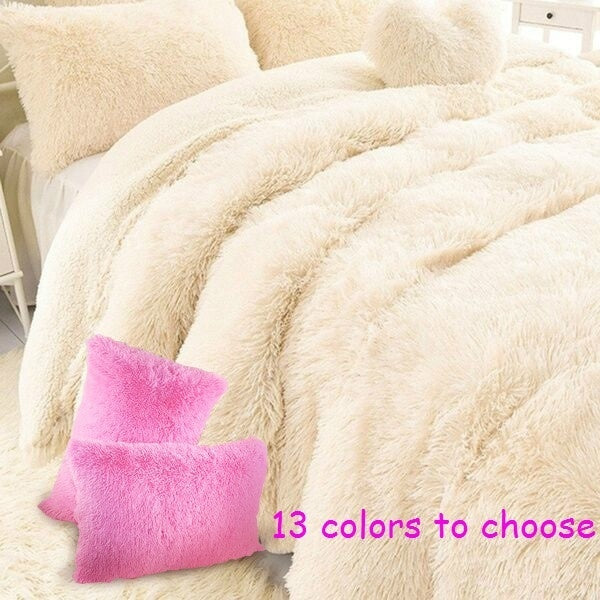 New Super Soft Shaggy Faux Fur Blanket Ultra Plush Decorative Blanket