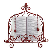 Decorative Red Bird Metal Cookbook Stand Book Holder Easel