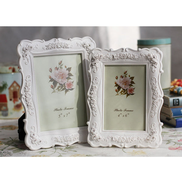 White Rose Pastoral Photo Picture Frame Diamond Wedding Photo Home Decoration
