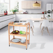 Rolling Kitchen Island Trolley Cart Dining Storage Stand Durable