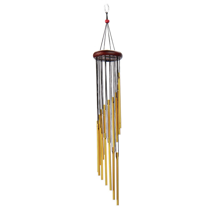16 Tubes Silver/Gold Wind Chimes Hanging Wind Bell Home Garden Decoration