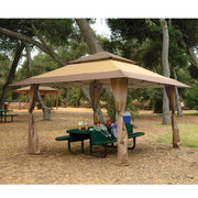 Z-Shade 13 x 13 Ft Instant Gazebo Canopy Tent Patio Shelter Tan Brown (Open Box)