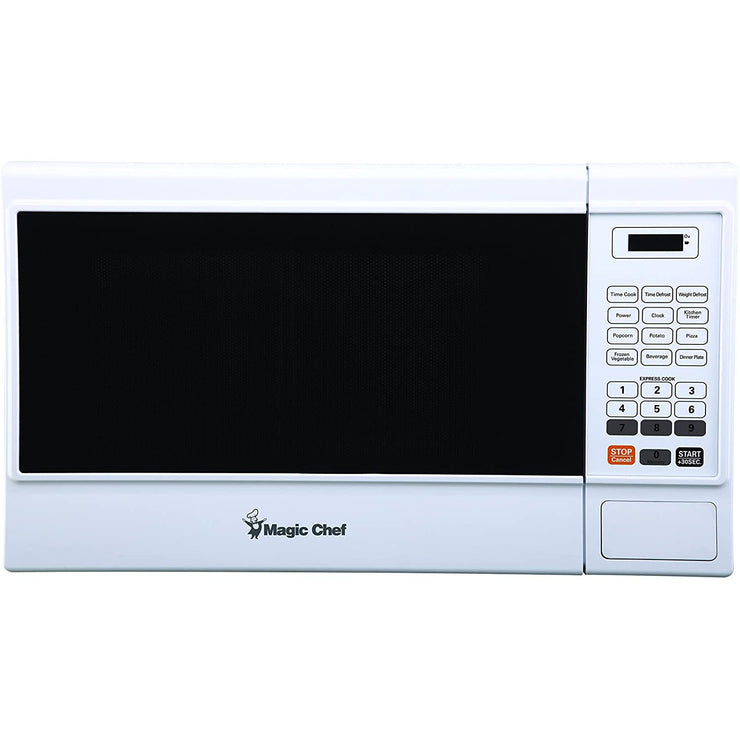 Magic Chef MCM1310W 1000 Watt 1.3 Cubic Foot Microwave with Digital Touch, White