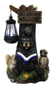 Ebros Gift Whimsical Forest Bedtime Story Mother Bear With Baby Cub Turtle
