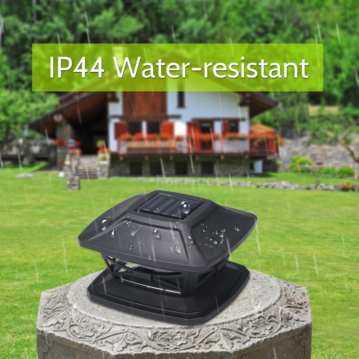 Solar Post Lights Garden Landscape Lamp IP44 Water-resistant Outdoor Post Cap Lights