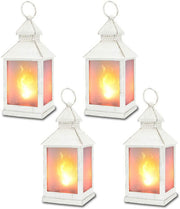 "11"" Vintage Style Decorative Lantern,Flame Effect LED Lantern"