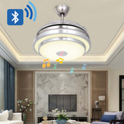 Dimmable 36in Crystal Ceiling Fan with Lights and Remote,Bluetooth Speaker