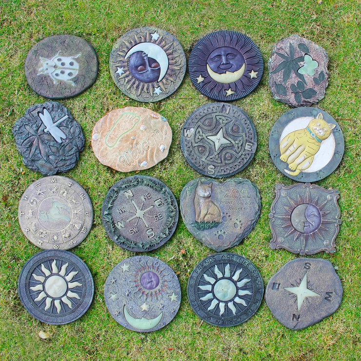 Creative Garden Stepping Stone Board Resin Night Glowing Trail
