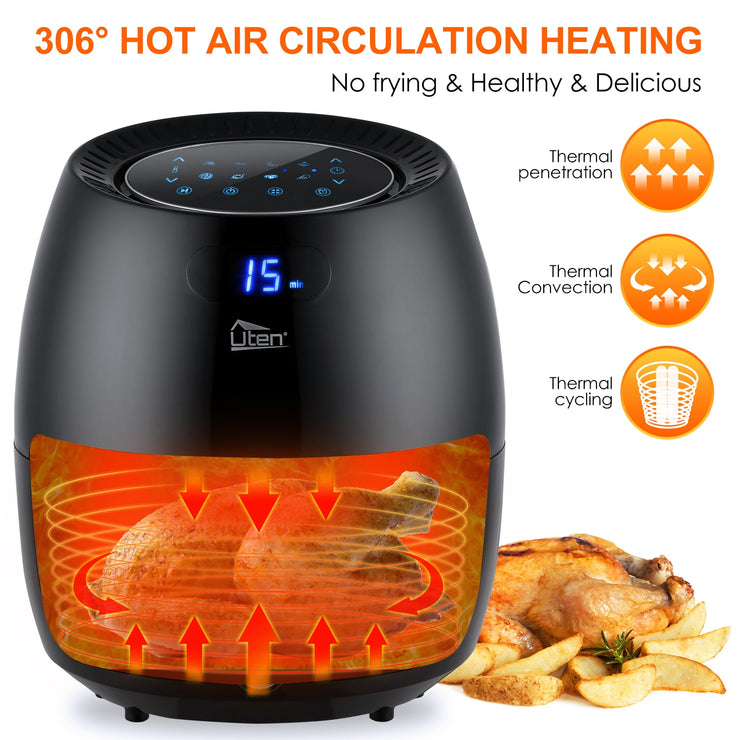 Air Fryer Electric Deep Fryer High-speed Hot A81.34on Cooker Oven Low Fat Health Pan 6.5L #30