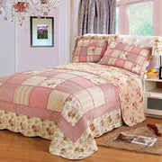 Korea Plaid Cotton Bed Cover Patchwork Bedspread Quilted Queen