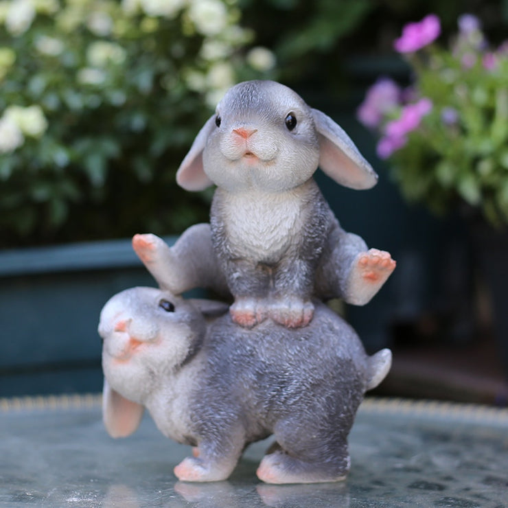 Pastoral Simulation Animal Resin Bunny Sculpture Ornaments Courtyard Garden Lawn Figurines Crafts