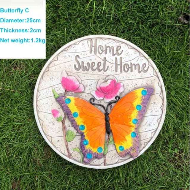Garden lawn butterfly stepping stones villa courtyard decoration