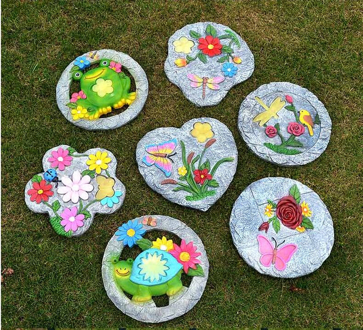 Outdoor Garden Resin Stepping Stone Pastoral Ornaments Landscape Villa