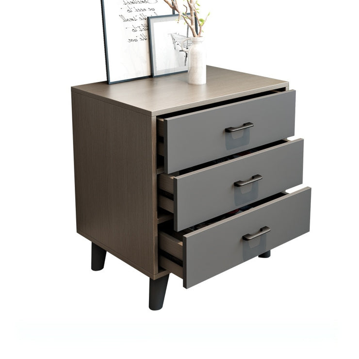 Fashion Simple Wooden Bedside Nightstands Storage White/grey Cabinet Furniture Chest of 3 Drawers