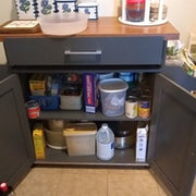 Hodedah Wheeled Kitchen Island Cart with Spice Rack and Towel Holder