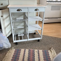 Kitchen & Dining Room Shelf Storage Rack with Rolling Wheels