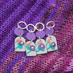 Margaret Stitch Markers (Grey Floral)