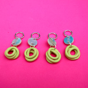 Mini Noods Stitch Markers (Mermaid and Key Lime)
