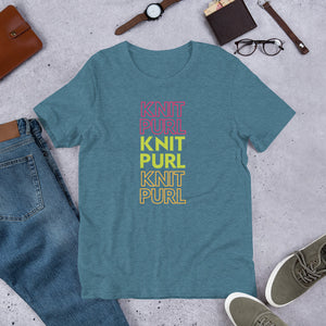 """Knit Purl"" Short Sleeve T-Shirt"