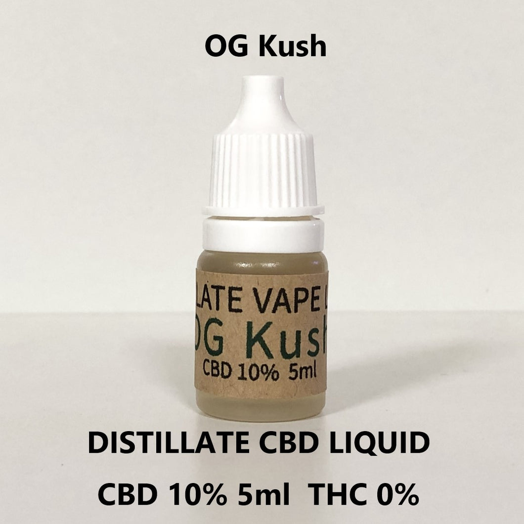 CBD 10% ディスティレート リキッド  5ml DISTILLATE CBD LIQUID CBD 10% 5ml OG Kush