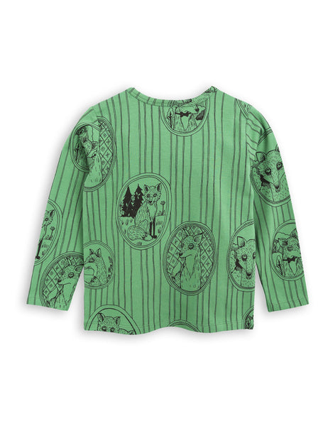Fox Family Grandpa Tee - Green