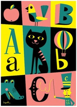 ABC Poster by Ingela