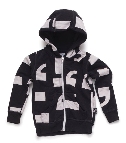 Punctuation Zip Hoodie - Black - Nununu
