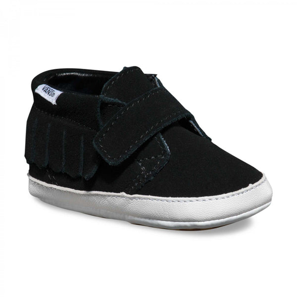 Infant Suede Chukka V Moc Crib -Black