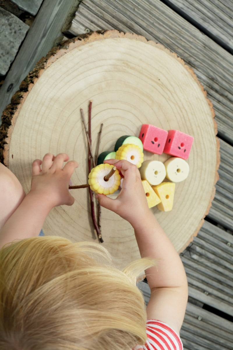 Threading Kebabs, Sensory Play Stones