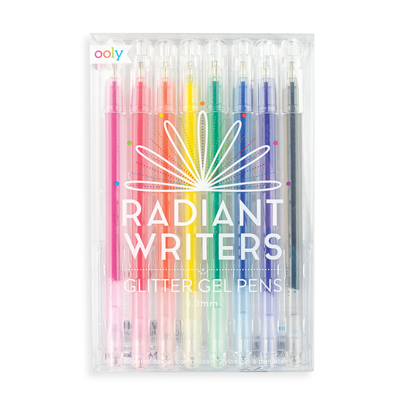 Radiant Writers Glitter Gel Pens, Set of 8