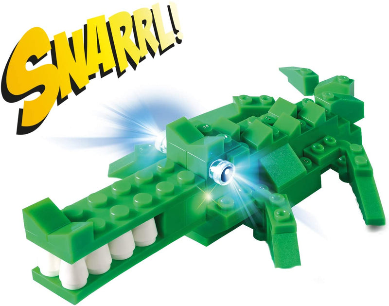 Light Stax Hybrid Light and Sound Snapping Crocodile Building Bricks and STAX Set