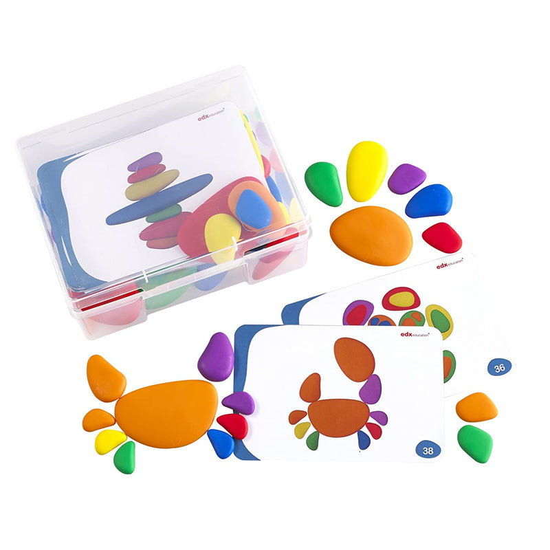 Rainbow Pebbles, Set of 36