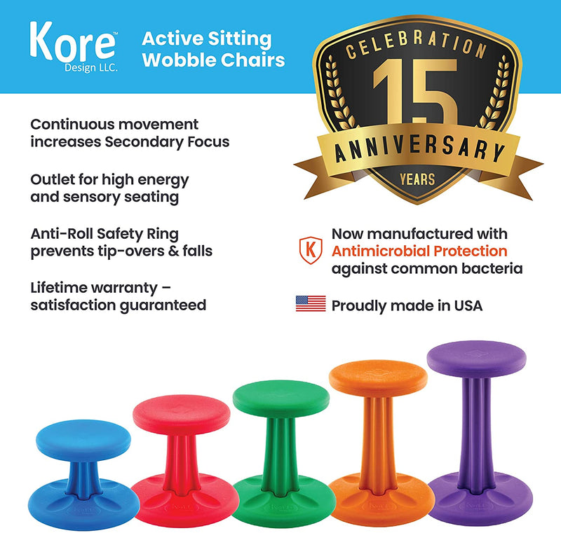 Kids Wobble Chair, 14 in (6-7 Years), Blue