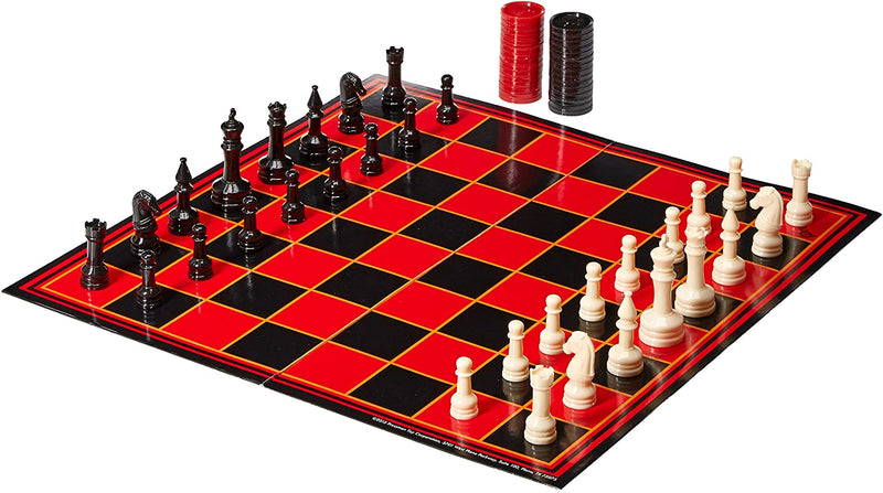 Chess, Checkers & Backgammon, 3 Games in One