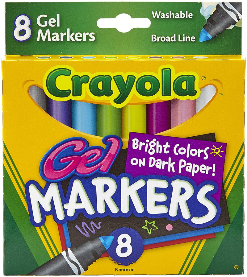 Washable Gel Markers, 8 Count