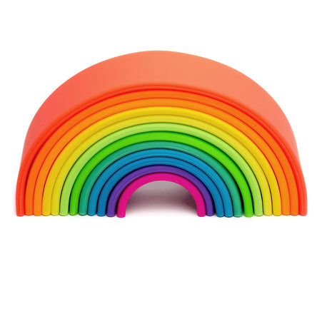 Large 12X Silicone Neon Rainbow Stacker