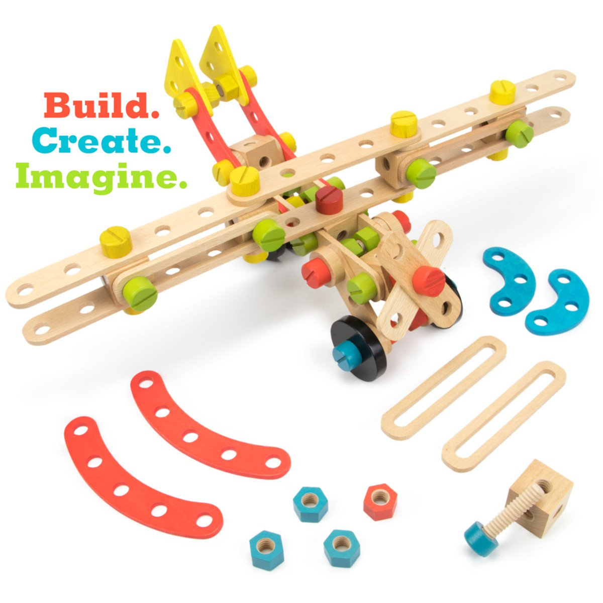 Constructables 92pc. Wood Building Set - Juniper Days